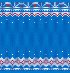 knitted and new year traditional background vector image