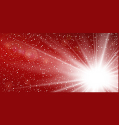 light ray flare isolated on red background shine vector image