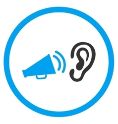 Listen Advertisement Rounded Icon vector image