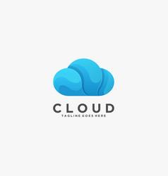 logo cloud gradient colorful vector image