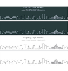 madurai single line skyline banner vector image