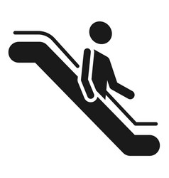 man goes down the escalator icon simple style vector image