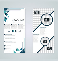Modern roll-up banner design template vector