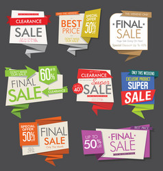 modern sale banners and labels collection 7 vector image
