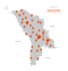 Moldova map with administrative divisions vector