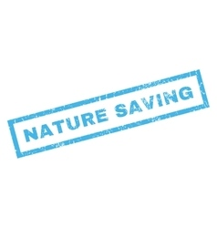 Nature Saving Rubber Stamp vector image