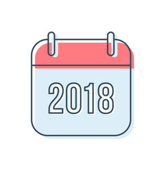 new year 2018 calendar icon vector image