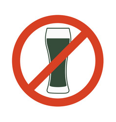 no alcohol sign prohibiting alcohol beverages vector image