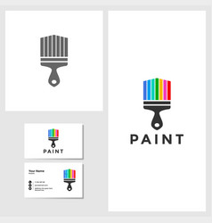 painting house icon design template vector image