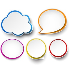 Paper set of color speech bubbles vector image