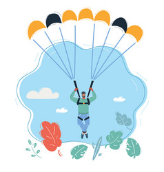 Parachute jumper with parachute vector