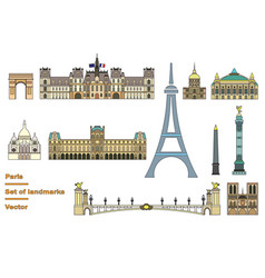 paris colorful line art 1 vector image