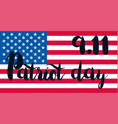 Patriot day banner vector