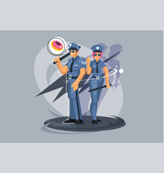profession police officer a guy and a girl vector image