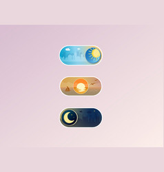 professional gradient on neutral off toggle vector image