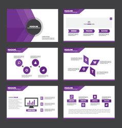Purple presentation templates Infographic elements vector image