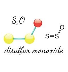 S2O disulfur monoxide molecule vector image