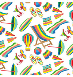 seamless beach and sea pattern vector image