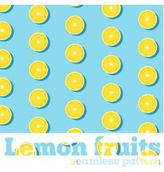 Seamless pattern with fresh lemons vector