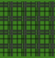 Seamless tartan plaid pattern in christmas color vector