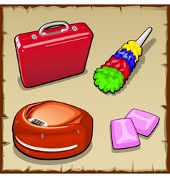 Set four items for household and gum vector