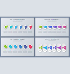set of contemporary infographic designs vector image