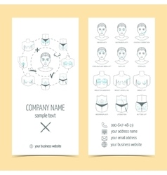 Set of flyer brochure for plastic surgery with vector