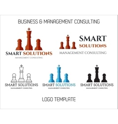 Set of Smart solutions logo template Business vector