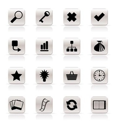 Simple internet and web site icons vector