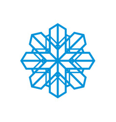 snowflake abstract sign vector image