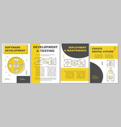 software development brochure template flyer vector image