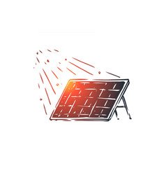 solar energy panel sun alternative concept vector image