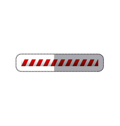 Sticker barrier icon line caution sign vector