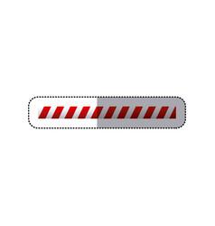 Sticker barrier icon line caution sign vector