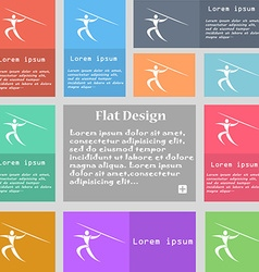 Summer sports Javelin throw icon sign Set of vector image
