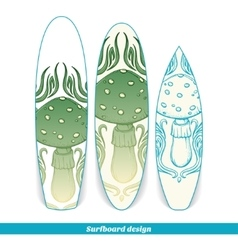 Surfboard Design Abstract Mushroom vector image