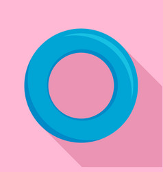 swimming circle icon flat style vector image