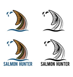 Tail of salmon vector