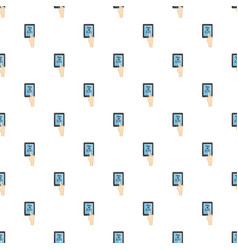Translator on phone pattern vector