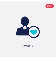 Two color favorite icon from customer service vector