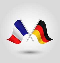 Two crossed french and german flags vector