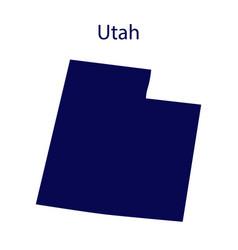 United states utah dark blue silhouette vector
