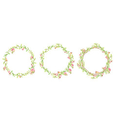 Watercolor hand painted pomegranate wreath frame vector