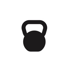 weight kettle sport equipment icon vector image