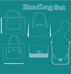Women handbags vector
