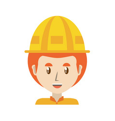 worker profile cartoon vector image