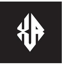Xa logo monogram with sharp square design template vector
