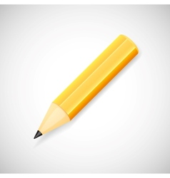 Yellow pencil isolated on white background vector image