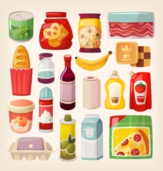 Colorful product icons vector image vector image
