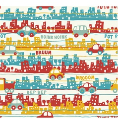 Cute urban traffic vector image vector image